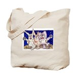 Full Moon Rabbits Tote Bag