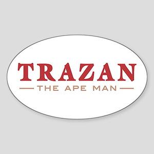 Trazan the Ape Man Oval Sticker