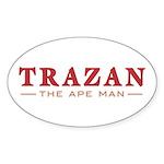 Trazan the Ape Man Oval Sticker (10 pk)