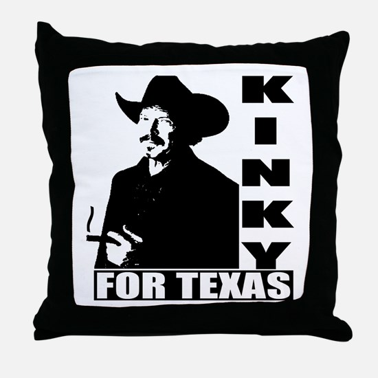 Kinky for Texas Throw Pillow