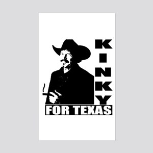 Kinky for Texas Rectangle Sticker
