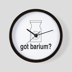 Got Barium? Wall Clock