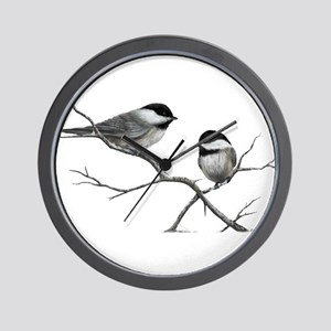 chickadee song bird Wall Clock