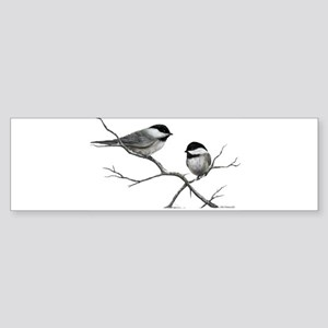 chickadee song bird Bumper Sticker