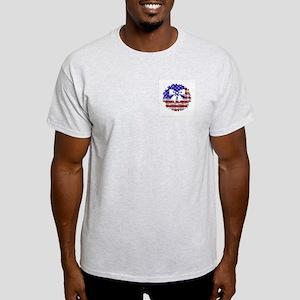 USA Wreath Ash Grey T-Shirt