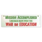 War on Education Bumper Sticker (50 pk)