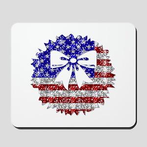 USA Wreath Mousepad