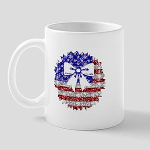 USA Wreath Mug