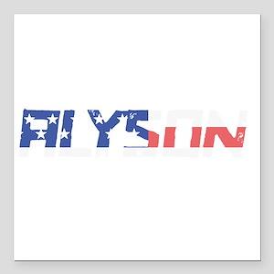 "Alyson Square Car Magnet 3"" x 3"""