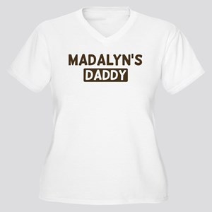 Madalyns Daddy Women's Plus Size V-Neck T-Shirt