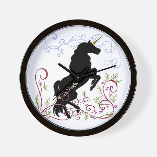 Unique Black forest horse Wall Clock