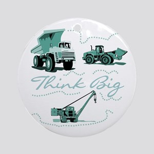 Think Big Construction Ornament (Round)