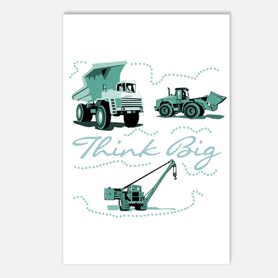 Think Big Construction Postcards (Package of 8)