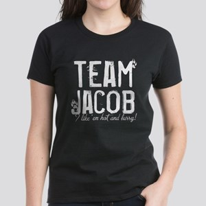 Team Jacob - I like 'em hot a Women's Dark T-Shirt
