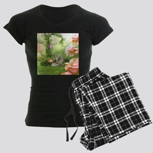 Cute cat in a fantasy garden Pajamas