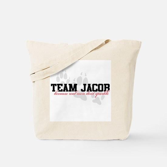 Team Jacob - Because real men Tote Bag
