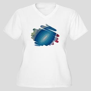 BLUE RHAPSODY Women's Plus Size V-Neck T-Shirt