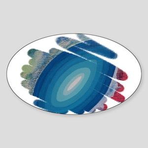 BLUE RHAPSODY Oval Sticker