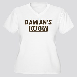 Damians Daddy Women's Plus Size V-Neck T-Shirt