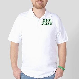 Number 1 Dad - Zackery Golf Shirt