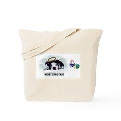 MERRY CHRISTMAS BOSTON TERRIER ANGEL Tote Bag