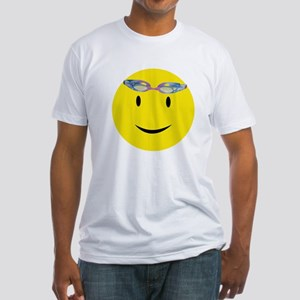 Swimmer Smiley / Eat my Bubbl Fitted T-Shirt