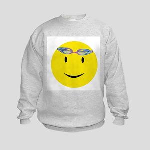 Swimmer Smiley / Eat my Bubbl Kids Sweatshirt