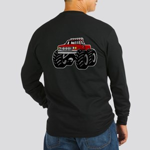 Red MONSTER Truck Long Sleeve Dark T-Shirt