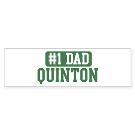 Number 1 Dad - Quinton Bumper Sticker