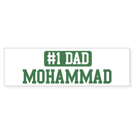 Number 1 Dad - Mohammad Bumper Sticker