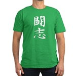 Fighting Spirit 02 - Kanji Symbol Men's Fitted T-S