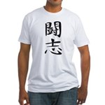 Fighting Spirit 02 - Kanji Symbol Fitted T-Shirt