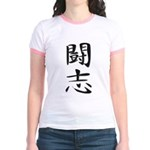 Fighting Spirit 02 - Kanji Symbol Jr. Ringer T-Shi