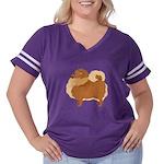Pomeranian Women's Plus Size Football T-Shirt