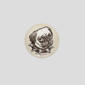 Pugs Rock Mini Button