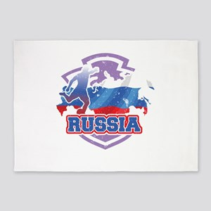 Football Worldcup Russia Russian So 5'x7'Area Rug