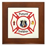 Future Firefighter Framed Tile