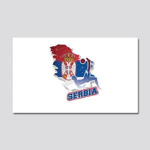 Football Worldcup Serbia Serbia Car Magnet 20 x 12