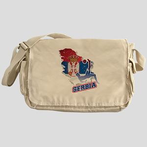 Football Worldcup Serbia Serbian Soc Messenger Bag