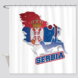 Football Worldcup Serbia Serbian So Shower Curtain