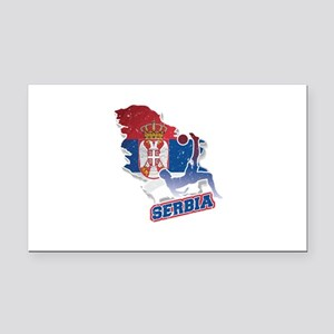 Football Worldcup Serbia Serb Rectangle Car Magnet