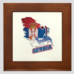 Football Worldcup Serbia Serbian Socce Framed Tile
