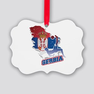 Football Worldcup Serbia Serbian Picture Ornament
