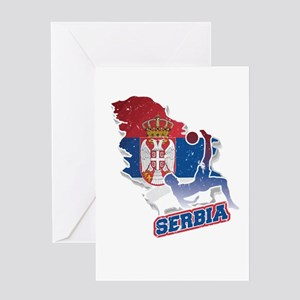 Football Worldcup Serbia Serbian So Greeting Cards