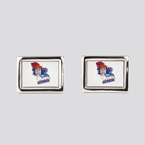 Football Worldcup Serbia Ser Rectangular Cufflinks