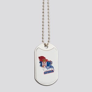 Football Worldcup Serbia Serbian Soccer T Dog Tags