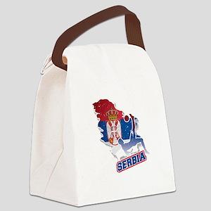 Football Worldcup Serbia Serbian Canvas Lunch Bag