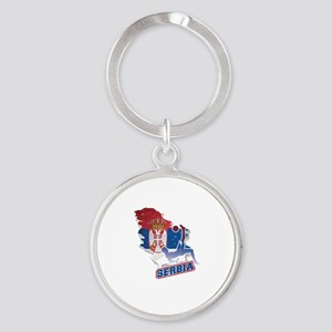 Football Worldcup Serbia Serbian Soccer Keychains