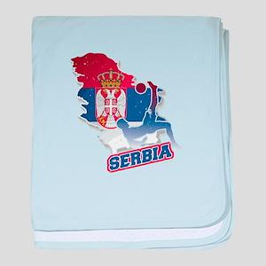 Football Worldcup Serbia Serbian Socc baby blanket