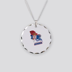 Football Worldcup Serbia Ser Necklace Circle Charm